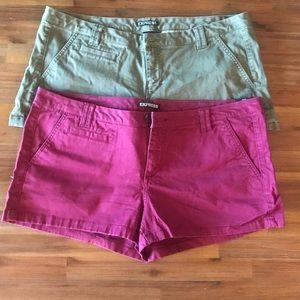 SHORTS BUNDLE! Express NWT SIze 10 khaki shorts